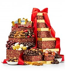 Gift Towers: The Golden Quintet Chocolate Tower