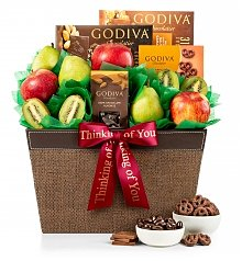 Fruit Baskets: Premium Grade Fruit and Godiva Chocolates